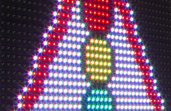 Active LED road signs